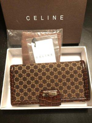 Celine Wallet black brown-dark brown