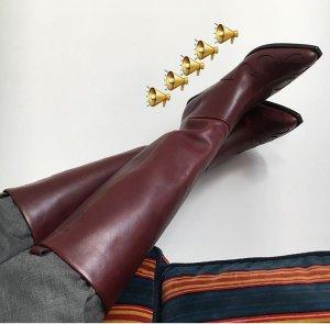 Neu Celine Vetements style Cowboy Lederstiefel