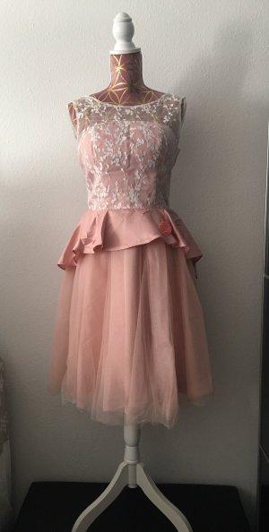 Chi Chi London Evening Dress pink polyester