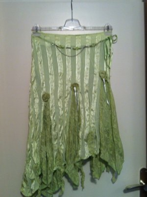 Pleated Skirt lime-green viscose