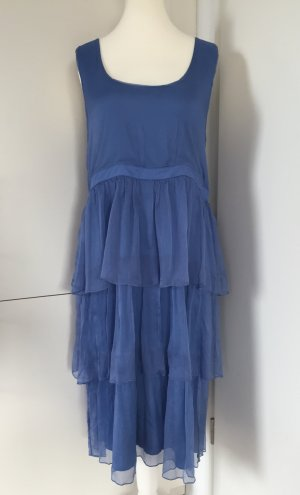 NEU - Chiffonkleid in Blau von Alba Moda / Gr. EUR 46 (Sommerkollektion 2016)