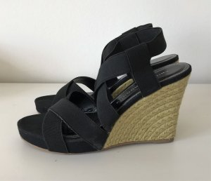 NEU Chinese Laundry Dilly Dally 37,5 Plateau Sandalen Schwarz 7.5 Keilabsatz Pumps High Heels