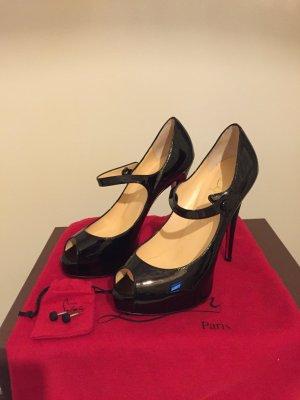 NEU Christian Louboutin Mary Jane Peep Toe Plateau Pumps High Heels