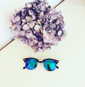 NEU Clubmaster lookalike Sonnenbrille verspiegelt Spiegelbrille