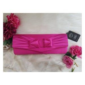 NEU Clutch Abendkleid Tasche Pink Schleife gold Kette