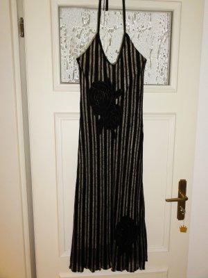 NEU Cocktail Kleid Samt Schwarz Seide Grösse S 36