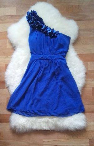 NEU! Cocktail Party Kleid Blau in XS/34 mit Blumen Petite