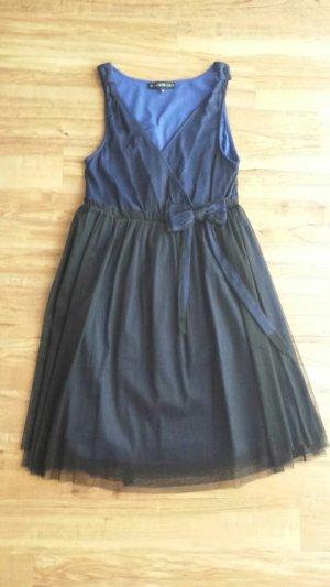 NEU Cocktailkleid blau schwarz Tüll