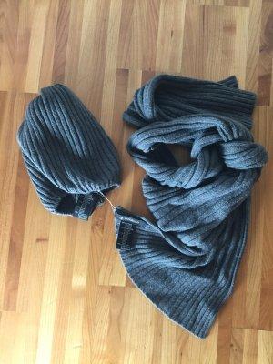Codello Gebreide sjaal grijs Viscose