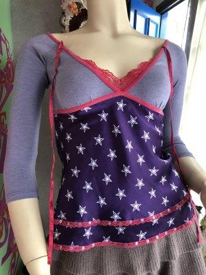 Colcci V-hals shirt paars-lila