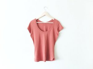 neu Comptoir des Cotonniers T-Shirt Gr. 3 38 40 Terracotta braun Baumwolle