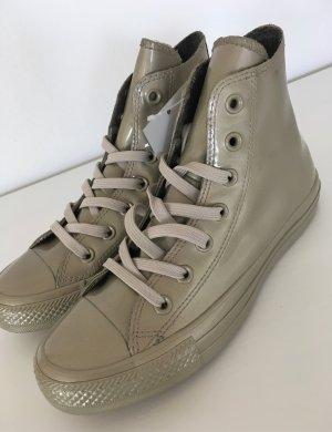 NEU Converse Chucks Hi All Star Light Gold Metallic Rubber Sneaker 37,5 38 Damen Schuhe