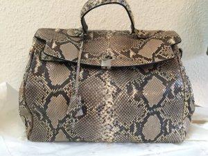 Handbag multicolored reptile leather