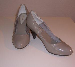 H&M Tacones altos color plata-gris Imitación de cuero