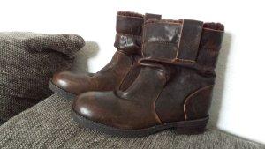 Neu coole Piazza Italy Boots Stiefel Stiefelletten Antik Echt Leder Braun gr 39