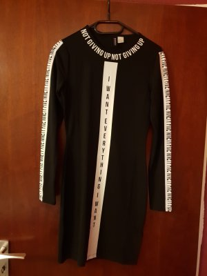 Balmain for H&M Vestido de tela de sudadera blanco-negro
