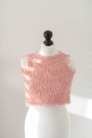 NEU Crop Top Spitze rosa