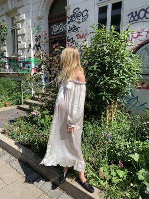 Neu Daily Sleeper Seidenkleid Love Me Tender Silk Dress Off-Shoulder Creme Kleid aus Seide
