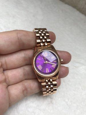 NEU Damen Armbanduhr von Michael Kors in Rosegold mit lila Ziffernblatt