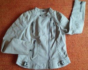 NEU Damen Biker Jacke EDEL Leder-Look Gr. 38 in Beige