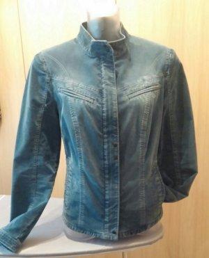 Neu Damen Blazer edel Fein Kord Jacke Gr. 42 in Blau von Apanage P.169,95 €