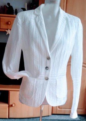 NEU Damen Blazer leicht Jacke Gr.38 in Woll-Weiß