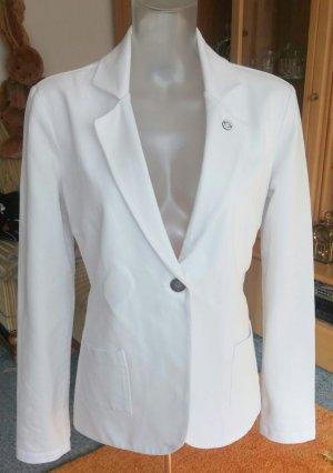 Lisa Campione Blazer en jean blanc coton