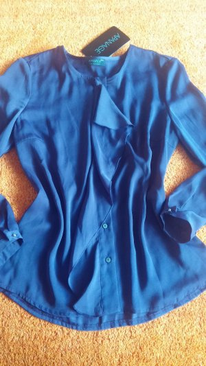 Apanage Shirt Blouse blue-steel blue polyester