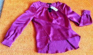 Apanage Long Sleeve Blouse magenta polyester
