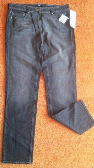 Gerry Weber Stretch jeans grijs-lichtgrijs Katoen