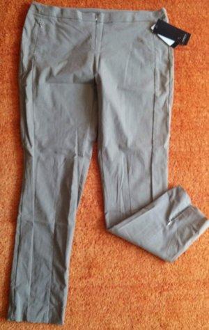 Steilmann Stretch Trousers ocher-grey brown cotton