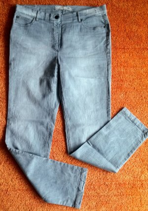 Anna Montana Stretch Jeans silver-colored cotton