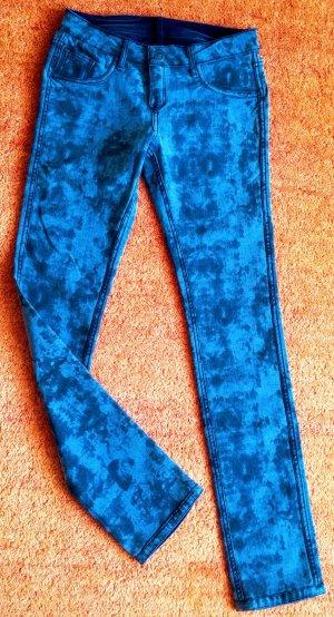 Jeans stretch gris ardoise-bleu foncé coton