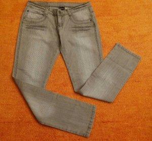 Stretch broek zilver-lichtgrijs Katoen