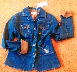 Lisa Campione Denim Jacket steel blue cotton