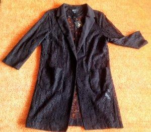 NEU Damen Jacke Long Bluse Überwurf Gr.46 in Schwarz von Atmosphere