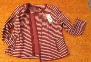 Apanage Blazer court beige clair-rouge foncé coton
