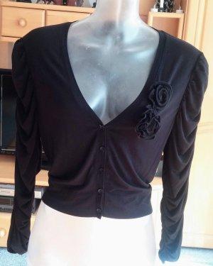 NEU Damen Jacke Shirt Bolero Gr.42 in Schwarz von Monari