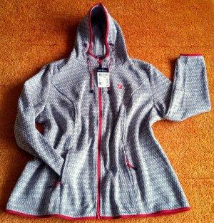 NEU Damen Jacke Strick Fleece Gr.46/48 in Grau von Ulla Popken P.69,99€