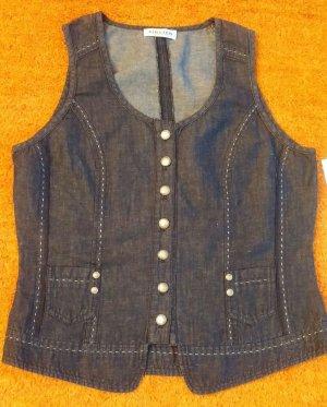Kirsten Gilet en jean bleu acier coton