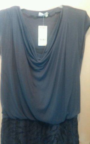 NEU Damen Kleid Designer aus WOLLMISCHUNG von APANAGE Gr. 38 P. 149,95 € Grau gefüttert