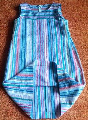 NEU Damen Kleid Leinen Sommer Gr.38 in Mehrfarbig gestreift