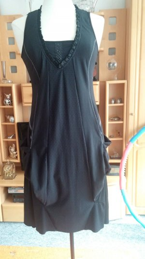 Midi Dress black polyester