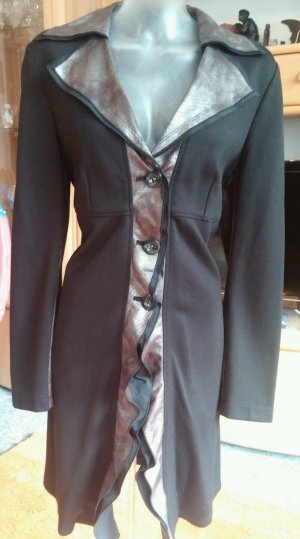 NEU Damen Mantel Boutiquware Sweat Lagenlock Gr. 38 Grundfarbe Schwarz von NTS