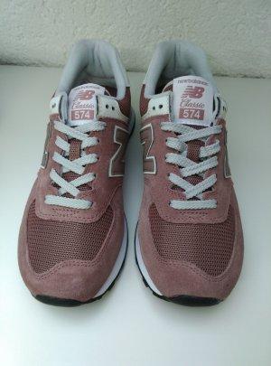 NEU! Damen New Balance WL 574 Leder Sneaker ziegelrot Gr.39