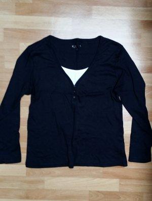 NEU Damen Oberteil/ Sweatshirt/ schwarz-weiß/ langarmig/ Gr. S/ Canda