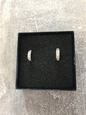 Neu Damen Ohrringe Silber