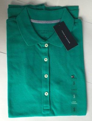 NEU - Damen-Poloshirt (Classic Fit, Gr. S) in Grün von Tommy Hilfiger