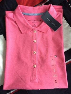 NEU - Damen-Poloshirt (Classic Fit, Gr. S) in Rosa von Tommy Hilfiger
