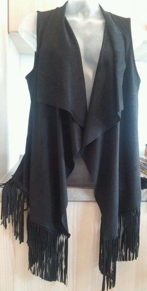 Jette Joop Fringed Vest black polyester